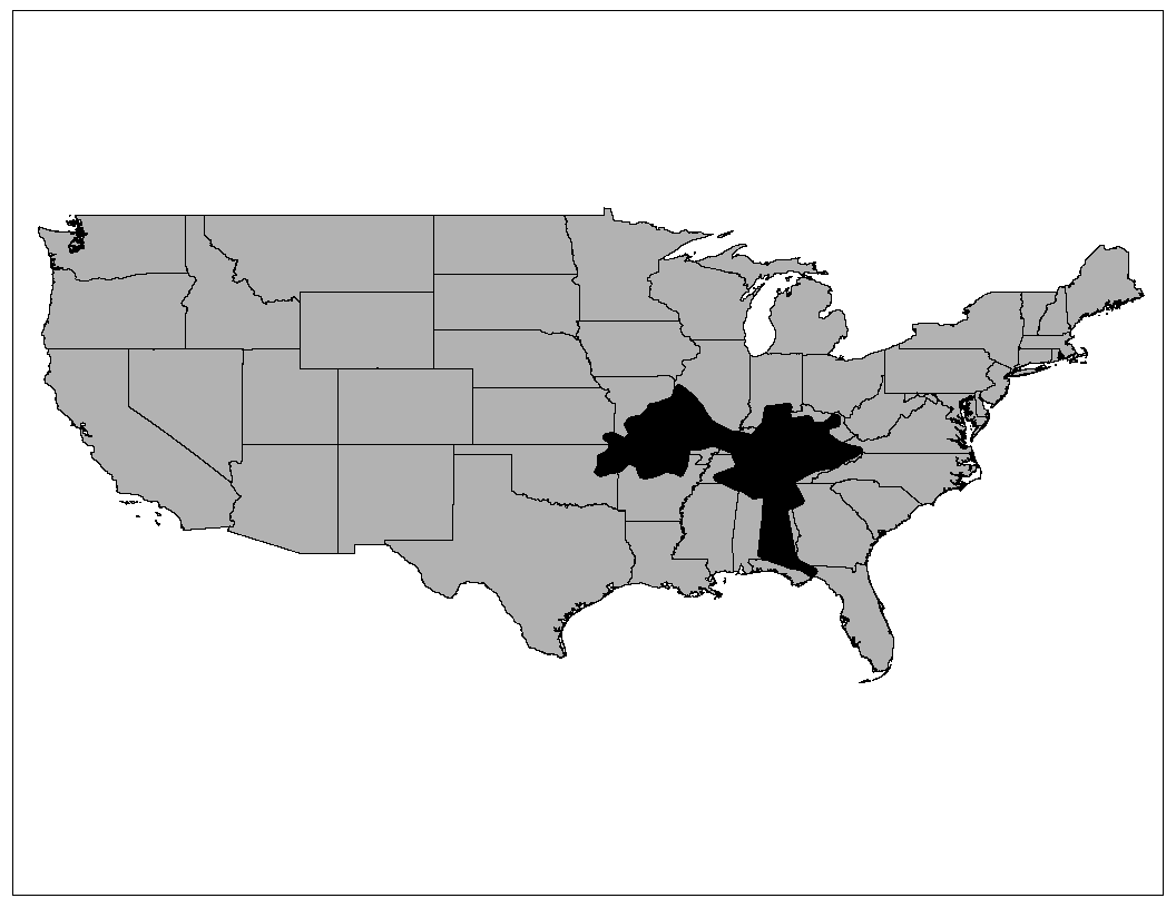 The Tennessee Bat Working Group - Gray us map